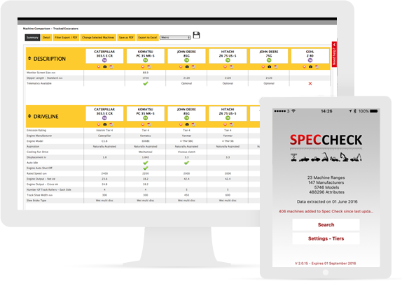 SPEC CHECK | Competitive Intelligence